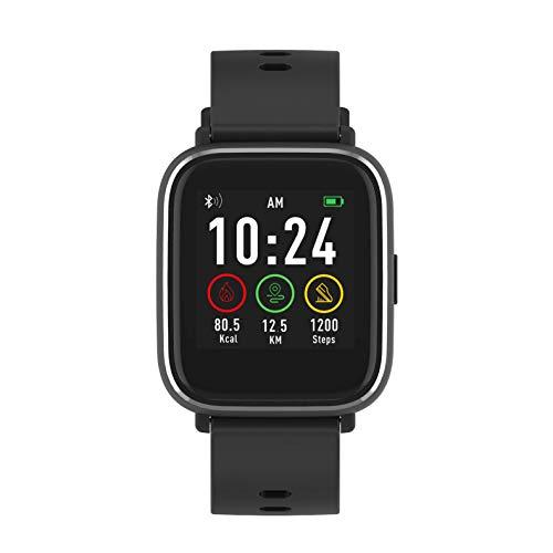 Denver SW-161 Bluetooth-Smartwatch mit Herzfrequenzsensor Schwarz