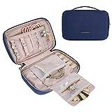 BAGSMART トラベルジュエリー収納ケース ジュエリーオーガナイザーバッグ ネックレス、イヤリング、リング、ブレスレット用 US サイズ: One_size カラー: ブルー