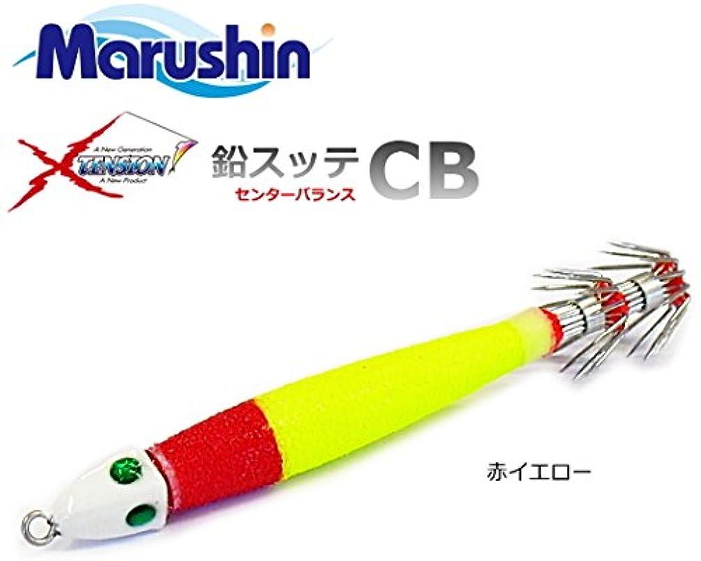 ヘロインクローンではごきげんようマルシン漁具 イカメタル用 鉛スッテ CB 18号 赤イエロー