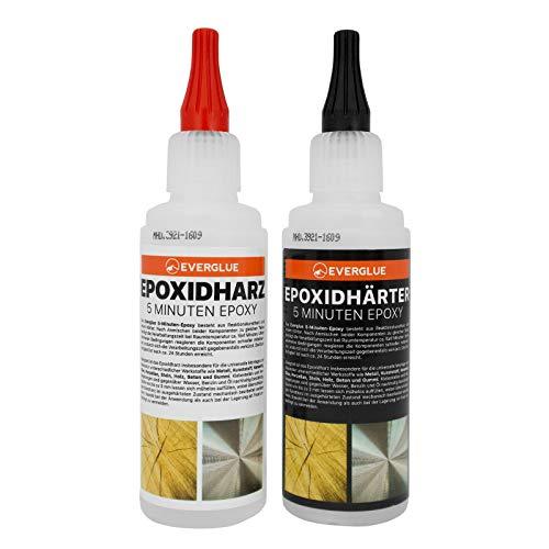 5-Minuten-Epoxy 200g • Epoxidharz 100g • Epoxidhärter 100g
