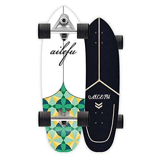 """Completa Carver Skateboard Principiante Power Surfing Series Surf Skate Skateboard Carving, 32"""" Skateboards De Madera De Arce 8 Capas Tablas Completas Skate De Surf Vintage CX7 Trucks, Adultos Unisex"""