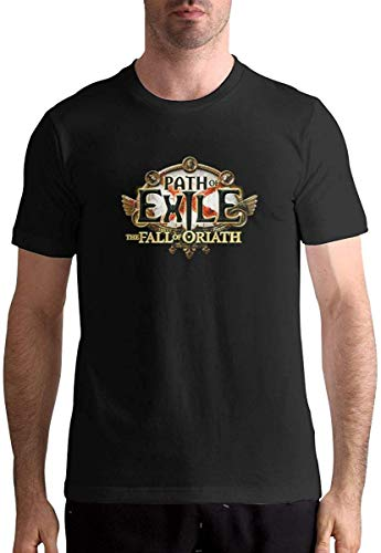 Path of Exile The Fall of Oriath Stylish Mans Tops Short Sleeve T Shirt,Black,3X-Large