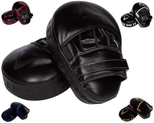 Athllete Boxing MMA Punching Mitts (Black/Black)