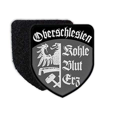 Copytec Patch Oberschlesien Schlesien Heimat Oppeln Kattowitz Adler Wappen Kohle #36629