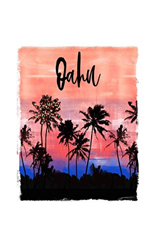 Oahu: Hawaiian Christmas Notebook With Lined College Ruled Paper For Taking Notes. Stylish Tropical Travel Journal Diary 5 x 8 Inch Soft Cover. For Home, Work Or School.