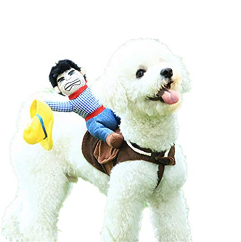 Dog Costume Pet Costume Pet Suit Cowboy Rider Style (Medium)