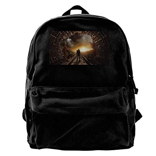 Mode lässig Leinwand Rucksack Metro Exodus Lightweight Multi-Function College School Laptop Backpack