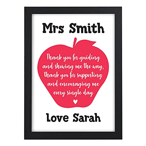 Personalised Red Apple Teacher Thank You Gifts - Teacher Thank You Poem -...