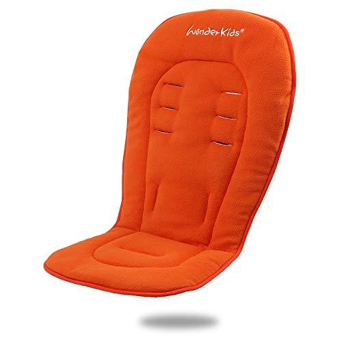 Fundas impermeables para asientos de cochecitos de bebé recién nacidos, acolchadas para cochecitos, cochecitos, cochecitos de bebé, universales, de doble cara, para invierno naranja naranja