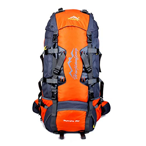 RatenKont 80L Outdoor Climbing Camping Travel Bag Zaini Unisex Zaino da Escursionismo Impermeabile Campeggio Borsa da Alpinismo Orange