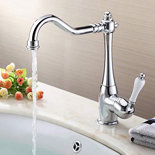 Auralum 360° Drehbar Küchenarmatur Spültischarmatur Chrom Küche Mischbatterie Einhebelmischer Wasserhahn Armatur