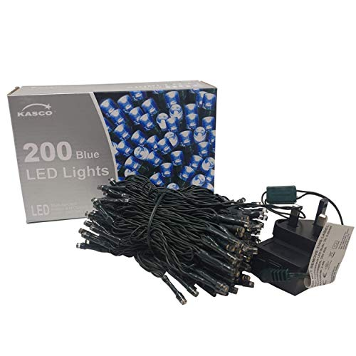 5M 200 LED Fairy Lights Mains Powered Decorative Wall Blue String Lights Plug in Copper Wire Waterproof Lights for Indoor Outdoor Christmas Bedroom and Garden(Blue)