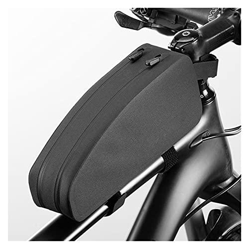 SQATDSBIKE Bicycle Bag Rainproof Top Front Tube Parcel Big Capacity Nylon Ultralight Portable Doube Zipper Pocket Bike Accessory (Size : L)