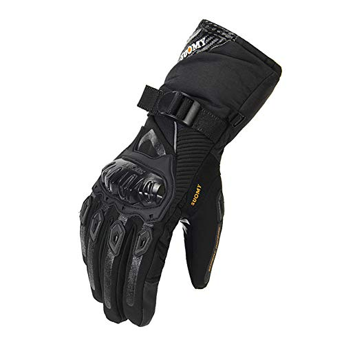 SUOMY - Guantes de moto para hombre, 100% impermeables, resistentes al viento, guantes de invierno para pantalla táctil