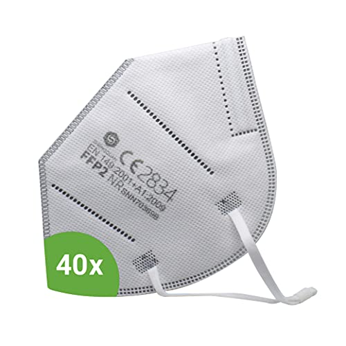 Kemes FFP2 Maske CE-Zertifiziert 40 Stück inkl. Maskenhalter...