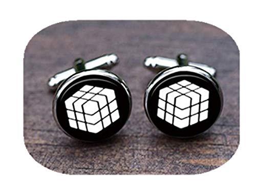 Leonid Meteor Dusche Cube Bilder Manschettenknöpfe, Magic Cube Bilder Manschettenknöpfe, Cube weiß Cube Manschettenknöpfe, Herren 's Cube Manschettenknöpfe