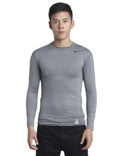 NIKE Pro Core - Camiseta para Hombre, tamaño M, Color Gris/Negro