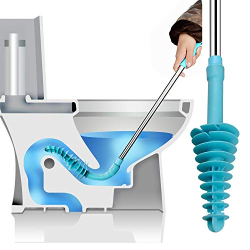 Muro WC Kolben Wohnmobil-Schlange – WC Clog Entstopper, WC Schlange Bad WC Dredge Rohr für verstopfte Siphon-WC