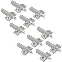 Emuca 1275021 Pistón amortiguador para puerta de mueble, gris, Set de 10 piezas