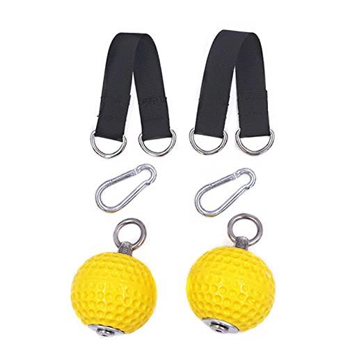 CUSROS Entrenamiento De Fuerza Pull Up Ball Mini Plástico Antideslizante Músculos del Brazo Ejercicio para Dedos, Mancuernas para Brazos Y Músculos Amarillo