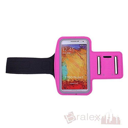BRALEXX Sporttasche Armtasche Smartphonetasche passend für Haier Phone L53, Pink