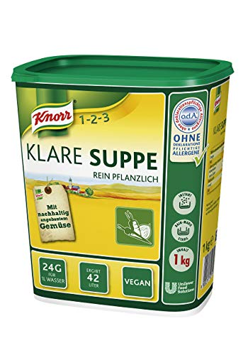 Knorr Klare Suppe Bouillon rein pflanzlich, 1er Pack (1 x 1 kg)