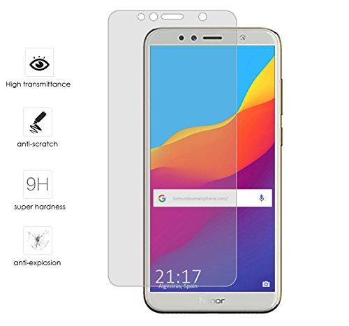Tumundosmartphone Protector Cristal Templado para Huawei Honor 7A/Y6 2018 Vidrio