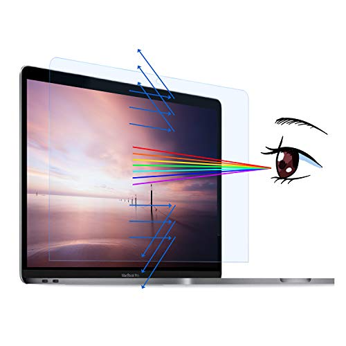 MasiBloom Clear Anti Blue Light Screen Protector Skin for Newest MacBook Pro 13 inch with Touch Bar & Touch ID Model: A2338 & A2251 & A2289 (2020 Released) 4H Hardness Anti Scratch & Protect Eyes