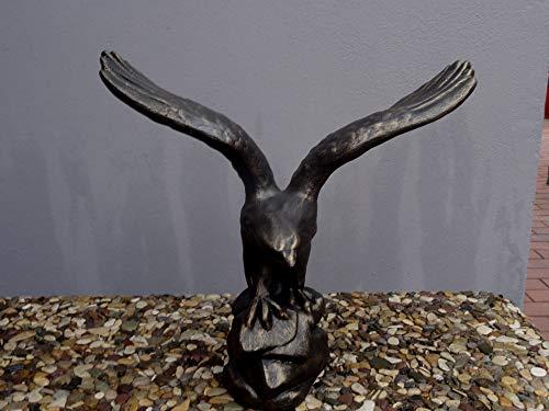 Mehrholz Steinfigur Vogel Adler schwarz Bronze patiniert