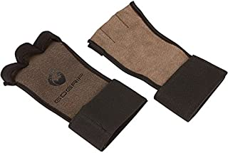 Gogrip Leather Hand Grips Palm Protector with Wrist wrap Support for All Kind of Training Like Crossfit for Girls and Men Gymnastic Calisthenics