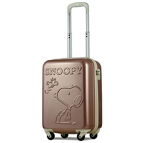 スヌーピー SNOOPY スーツケース 機内持ち込み 小型 Sサイズ ピーナッツ PEANUTS 軽量 小型 おしゃれ TSA ハードキャリー キャリーケース (Sサイズ, ピンク)