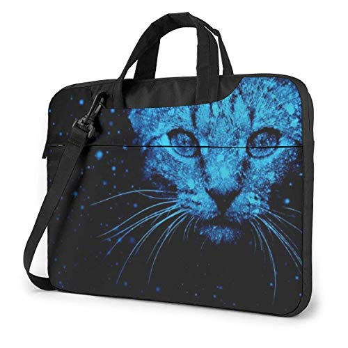 Cat Laptop Sleeve Case 14 Inch Computer Tote Bag Shoulder Messenger Briefcase for Business Travel
