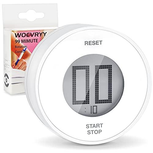 WOCVRYY Temporizador de Cocina, Digital Temporizador Magnético Count up/Down Gran Pantalla LCD Electrónica Temporizador de Memoria