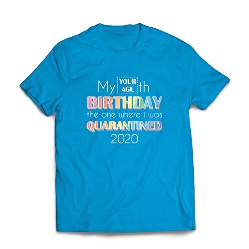 lepni.me Mannen T-shirt 2020 Sociale Afstand Quarantaine op Maat Gelukkige Verjaardagscadeau