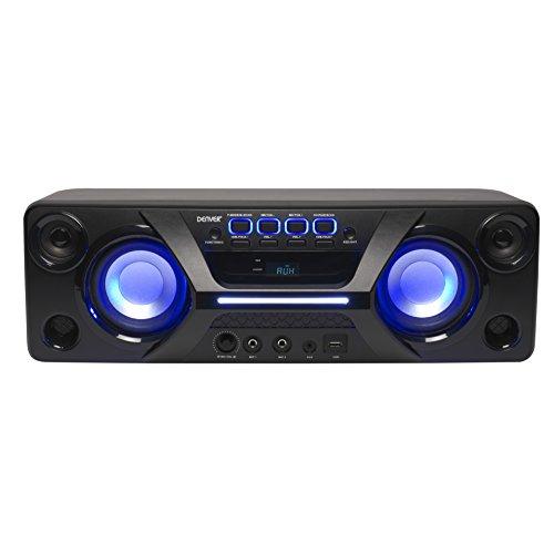 Denver BTB-410 Bluetooth Lautsprecher mit integriertem FM-Radio, Schwarz