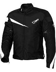 JET Chaqueta Moto Ciclomotor Hombre Textil con Protecciones Ligero Basic ECONOTECH (M (EU 48-50), Negro)