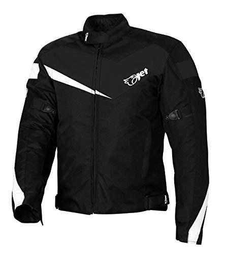 JET Chaqueta Moto Ciclomotor Hombre Textil con Protecciones Ligero Basic...
