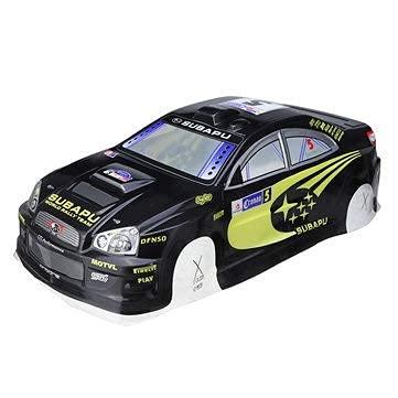 Ellenbogenorthese-LQ Parti di Ricambio RC 1/10 Rc On-Road Drift Car Body Shell in PVC con Ala Posteriore per Parti Turbo Subaru Impreza - Nero ( Color : Black )