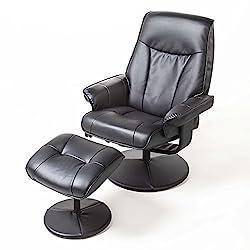 Alpha Techno massage chair, imitation leather, black
