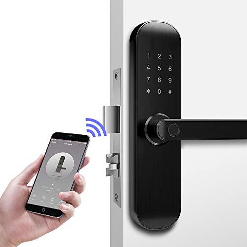 Nuevo 202Pro WIFI Bluetooth Smart Lock, Aplicación remota y gestión de negocios de oficina/apartamento para seguridad de cerradura de puerta, Reversible sin mango