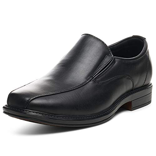 Alpine Swiss Mens Dress Shoes Black Leather Lined Slip on Loafers 8 M US