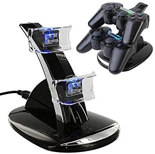 Dual Charger with USB LED Dock Station Charging Stand for Playstation 4 for PS4 Controller , 2724447300605