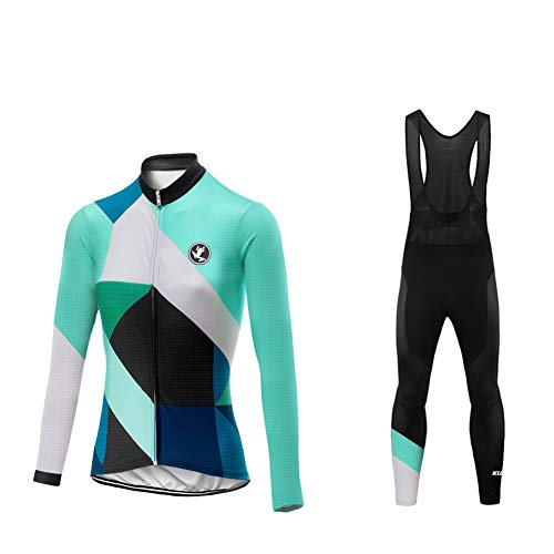 Uglyfrog Invierno Thermo Fleece Ciclismo Ropa Maillot Mujer Jersey+Pantalones Largos Culote de...