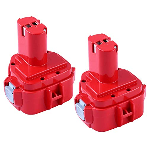 Upgraded 3600mAh Replacement Battery Ni-MH Compatible with Makita 12V 1200 1220 1201 1222 1233 1234 1235 192681-5 Cordless Power Tools 2 Pack
