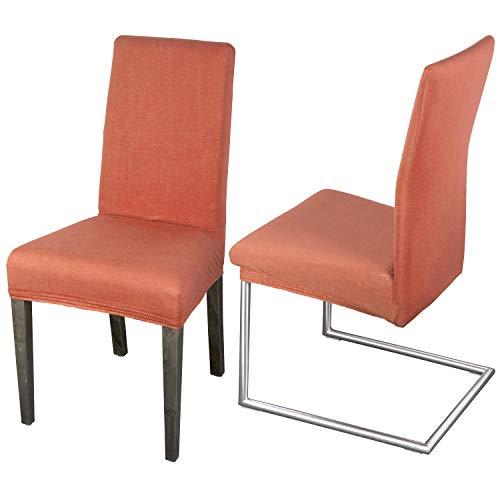 Staboos Juego de 2 fundas para silla, 96% algodón, bielásticas, universales, lavables y no necesitan planchado, diseño de flamencos