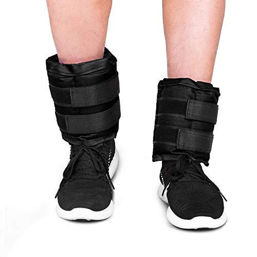 JBM Adjustable Ankle Weights Wrist Leg Weights Sand Filling 22lb 44lb 66lb 88lb 11lb 132lb 176lb 22lb 1 Pair Double Velcro Straps for Walking Jogging Gym Fitness Exercise Gymnastics Aerobics