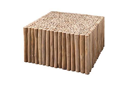 SIT-Möbel Romanteaka Table Basse rectangulaire en Teck avec Branches en Teck 80 x 80 x 40 cm