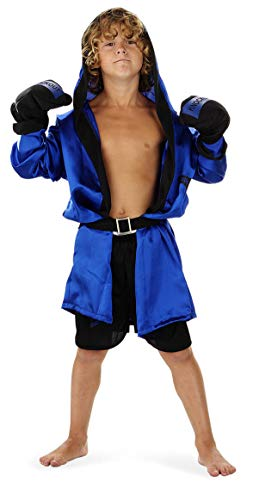 Folat 21885 Boxer-Kostüm, Kinder Größe 134-152, Blau