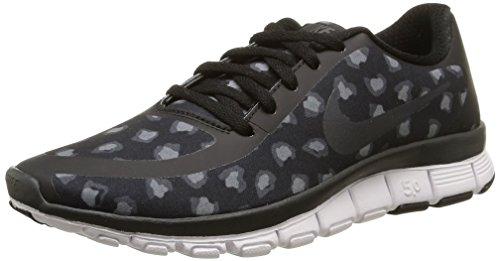 Nike W NK Free 5.0 V4 NS Pt, Sneaker da donna, Donna, 695168-003, Nero, antracite, grigio scuro, bianco, 36 EU