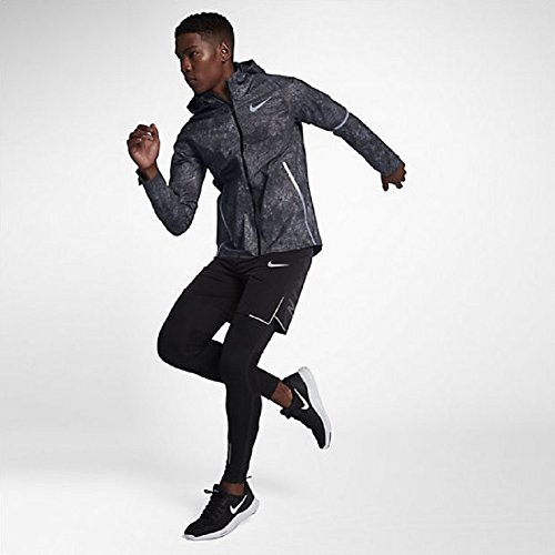 NIKE Men's Zonal AeroShield Energy Solstice Men's Running Jacket - Black/Grey Size Medium
